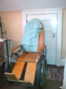 Miss Halpern's wheelchair