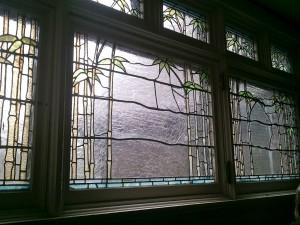 Bamboo Tiffany Glass WIndows