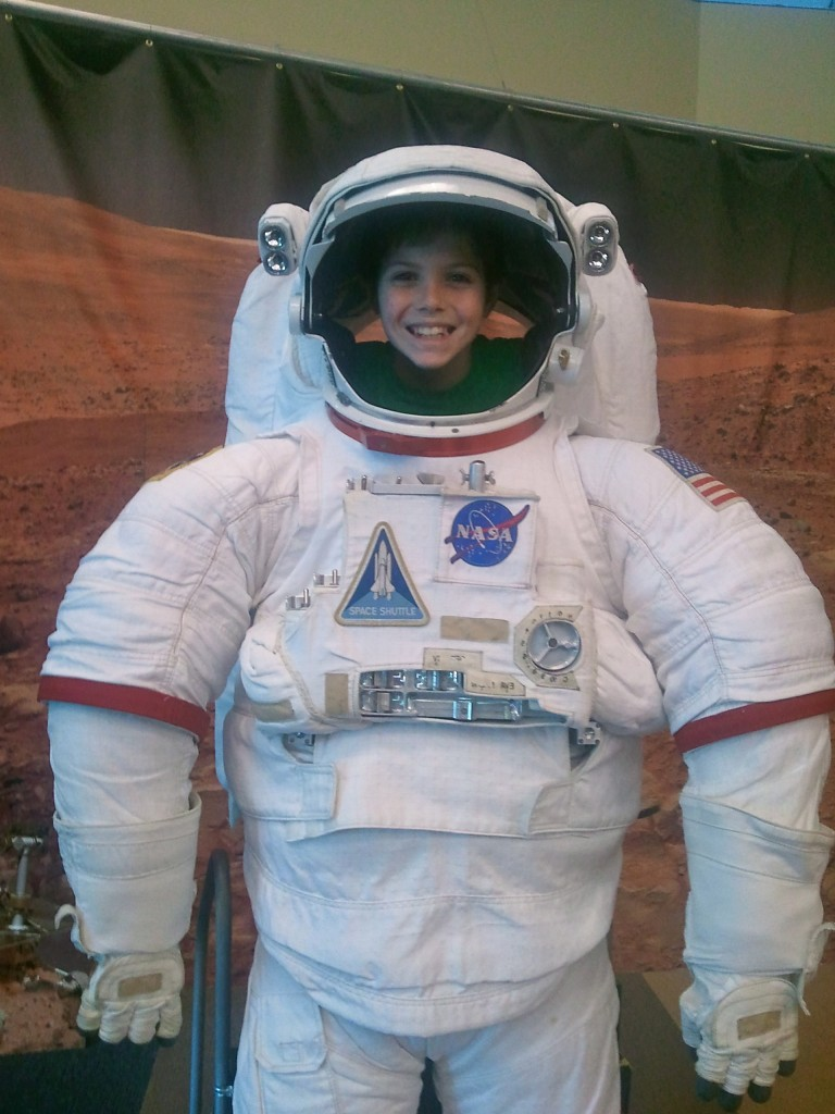 "Anyone can be an astronaut  - all you have to do is say ""cheese""!"