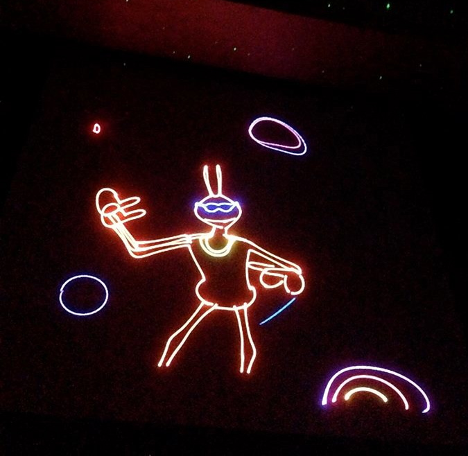 Laser Light show- great for younger kids.