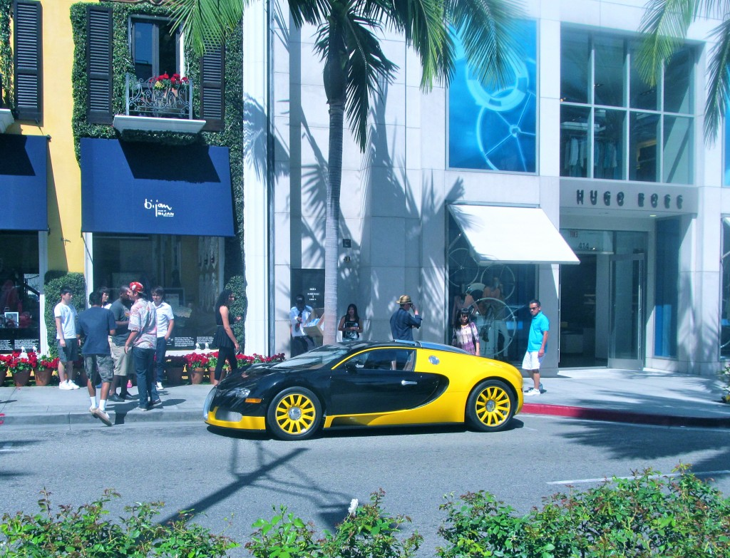 Rodeo Drive was filled with cars that cost more money than some homes ... I guess Richie Rich owns this one.