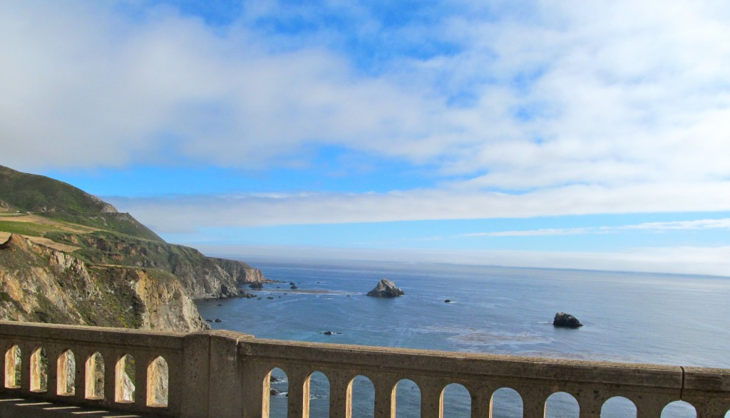 View from the famous Bixby Creek Bridge