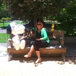 Hanging with Snoopy and Woodstock