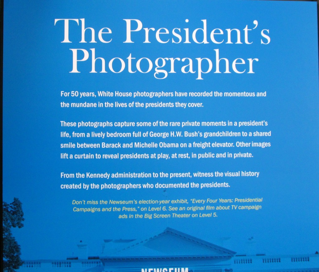 Fabulous exhibit that captures the Presidents in everyday life.