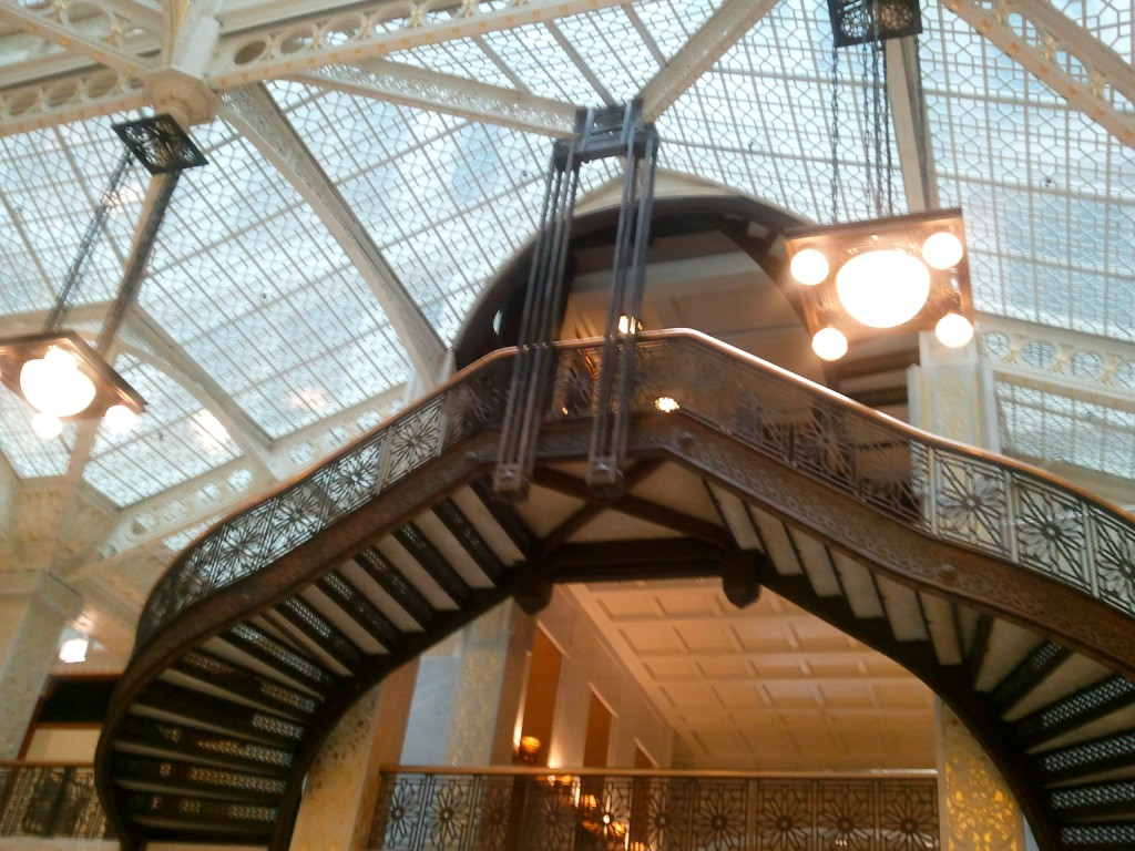Iron Staircase in the Rookery.