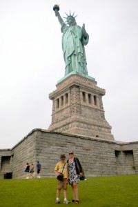One of our many visits to the Statue of Liberty.
