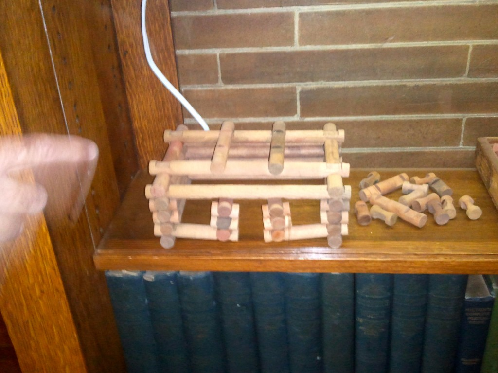 Lincoln Logs displayed at Frank Lloyd Wright's home in Oak Park, Illinois.