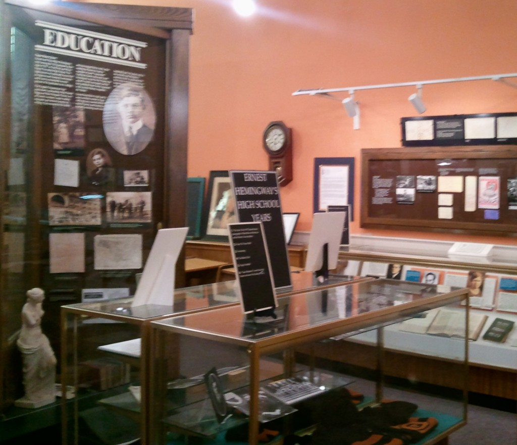 An exhibit about Hemingway's early education.