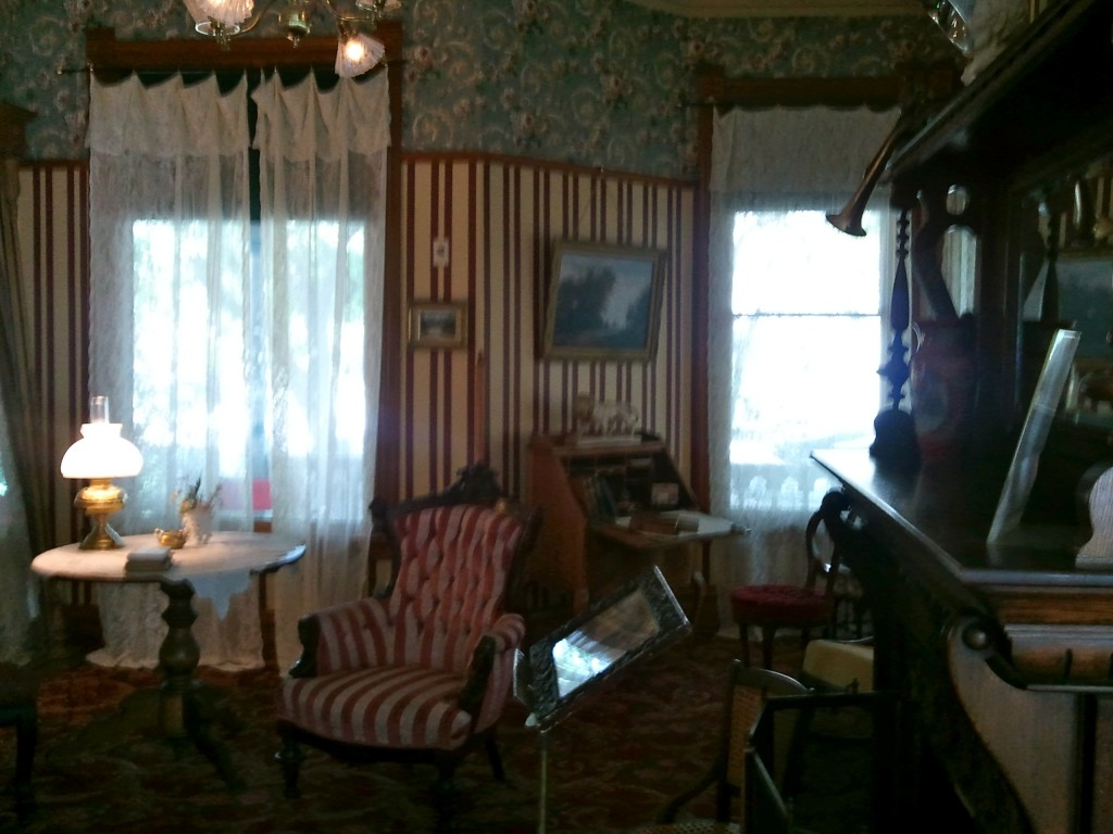 The parlor where Hemingway's mother conducted music lessons.