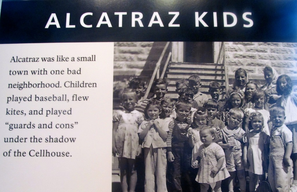 One of the interesting exhibits at Alcatraz.