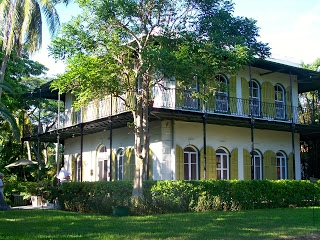 Hemingway's house in Key West.