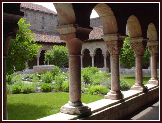 I'll be visiting the Cloisters this summer when the gardens are in bloom.  This  is a museum located in Fort Tryon Park in Upper Manhattan. It is a branch of the Metropolitan Museum of Art, exhibiting the museum's extensive collection of Mediaeval European art, architecture and artifacts.