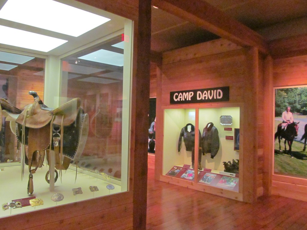 An exhibit that focused on the President's time at Camp David.