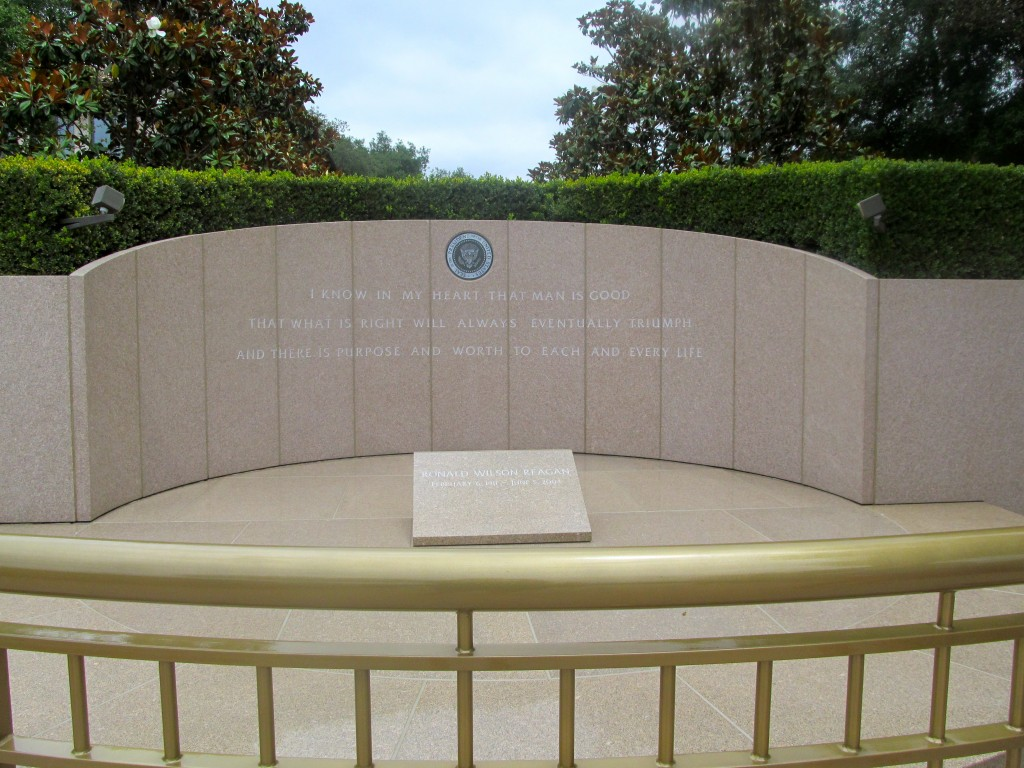President Reagan's resting place.