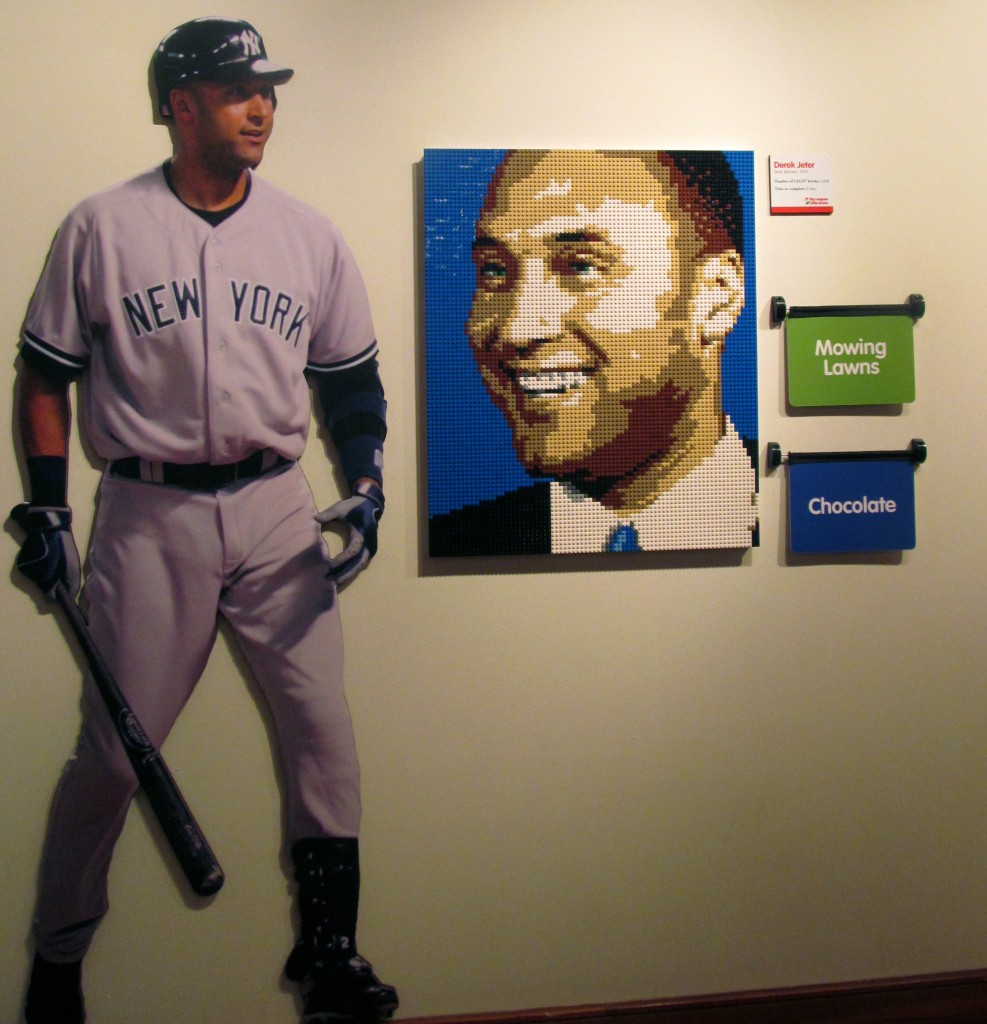 It took Sean Kenney 4 days to complete the portrait of Derek Jeter with 5,068 Lego bricks.