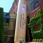 "Standing in front of the ""World's Biggest Bat"""