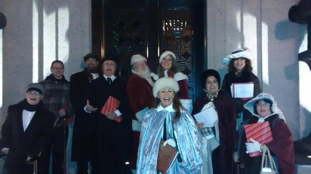 The Dickens Characters and Santa & Mrs. Claus at Winter Wonderland