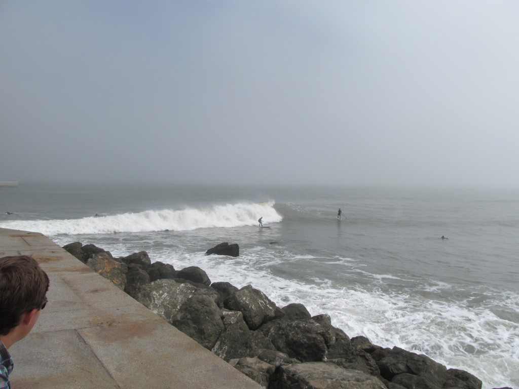 The biggest surprise of the day was watching surfers and paddle boarders under the bridge in the fog from Fort Point.
