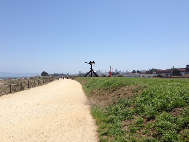 While we were visiting there were eight huge sculptures by artist Mark di Suvero.