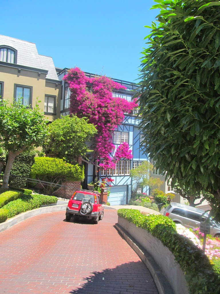 Surprisingly, Lombard Street is open to traffic.